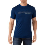 Smartwool m striped logo tee deep navy
