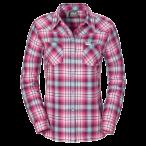 Jack wolfskin gifford shirt women wild berry checks