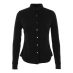 Super natural w ls button shirt caviar