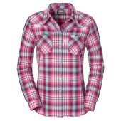 Jack wolfskin gifford shirt women wild berry checks