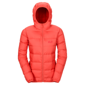 Jack wolfskin helium down jacket women s hot coral