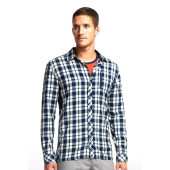 Icebreaker mens compass ls shirt plaid admiral