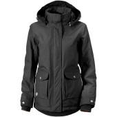 Didriksons patch women s jacket coal black