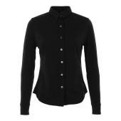 Super natural w ls button shirt caviar