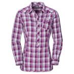 Jack wolfskin wichita shirt women mallow purple checks
