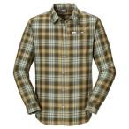 Jack wolfskin gifford shirt men olive brown checks
