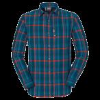 Jack wolfskin maitland ii shirt ls m dark turquoise checks