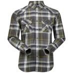 Bergans bjorli shirt solidgrey springgreen check