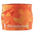 Peak performance trail print headband hot orange print