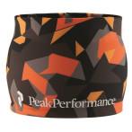Peak performance trail print headband orange grey print