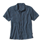 Patagonia men s back step shirt halyard glass blue