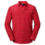 Jack wolfskin tasman shirt m red fire checks