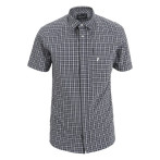Peak performance gust checked ss shirt grey checked